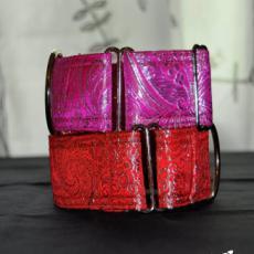 Brokátový obojek SHINE šíře 4 cm v různých barvách