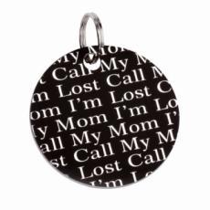 Náhled  Identifikační známka I´m lost Call my Mom 25 mm