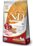 N&D Low Grain Dog Adult Mini Chicken & Pom. 2,5 kg - vhodné pro italské chrtíky
