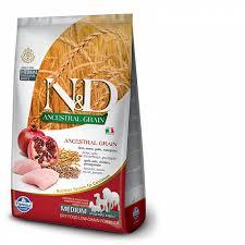 N&D Low Grain Dog Adult M/L Chicken & Pomegranate 2,5 kg - vhodné pro větší italské chrtíky, whippety a větší plemena