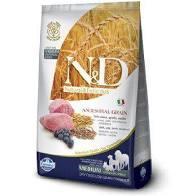 N&D Low Grain Dog Adult M/L Lamb & Blueberry 2,5 kg - vhodné pro větší italské chrtíky, whippety a větší plemena