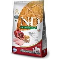 N&D Low Grain Dog Senior M/L Chicken & Pomegranate 12 kg - vhodné pro větší italské chrtíky, whippety a větší plemena v důchodu