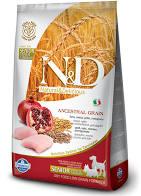 N&D Low Grain Dog Senior S/M Chicken & Pomegranate 2,5 kg - vhodné pro italské chrtíky a whippety v důchodu