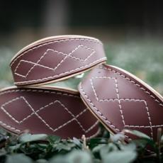 Kožený obojek SIMPLY CASUAL BROWN XS