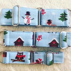 Bavlněný obojek  Merry Christmas 4 cm L