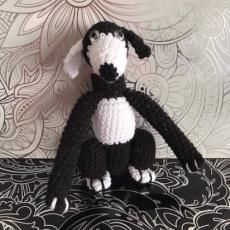 Pletený chrt černý