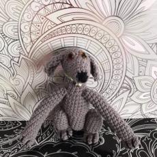 Pletený chrt tmavě šedý