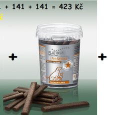 CLICK/STICKS TRIO PACK - FitSticks Jehně & Kuře 300g + FitSticks Králík & Kuře 300g + Platinum ClickBits 300 g