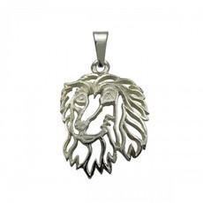 Afgánský chrt - stříbrný přívěšek 925/1000