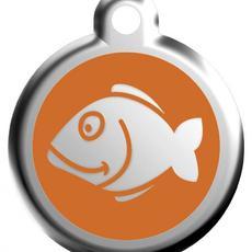 Známka malá 20 mm - Rybka - Oranžová - s rytím