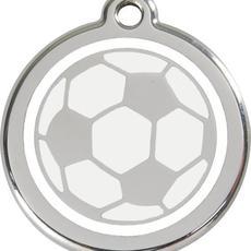 Známka malá 20 mm - Fotbalový míč - s rytím