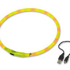 Obojek svítící USB do 40 cm