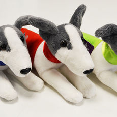 Plyšový whippet/greyhound s dečkou a obojkem - set tří barev