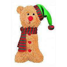 Plyšový pes/los/perník s vánoční čepicí