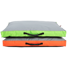 Matrace nylon Memory oranžová/zelená 120 x 100 x 10 cm