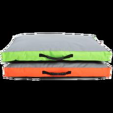 Matrace nylon Memory oranžová/zelená 90 x 60 x 12 cm