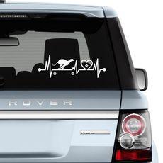 Nálepka na auto Greyhound běžící 30 x 10 cm