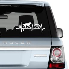 Nálepka na auto Irský vlkodav v pohybu 30 x 10 cm