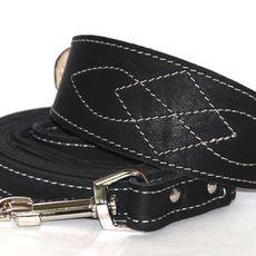 Set kožený obojek Classic Elegance S + vodítko 150 cm ve třech barvách