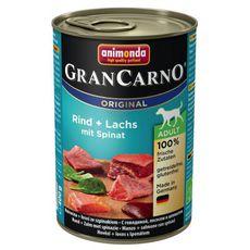 GranCarno Adult hovězí & losos se špenátem 400g